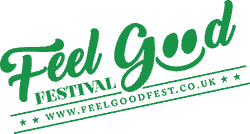 Green_Slanted Feel good festival logo