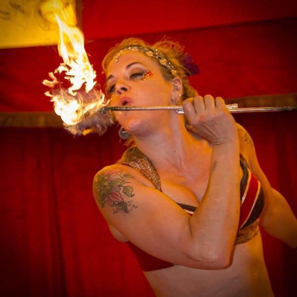 Sally from Astral Circus fire eating