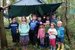Branch out Forest school - image of children attending