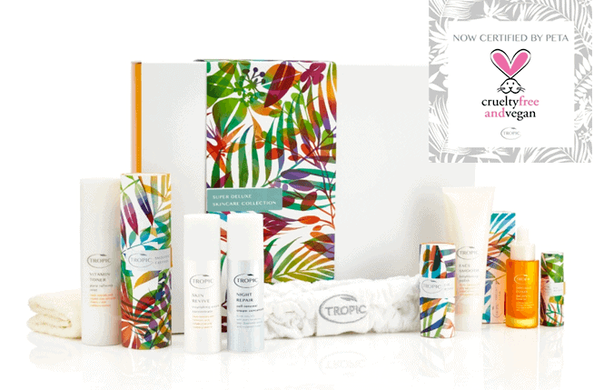 image of Tropic skincare product range