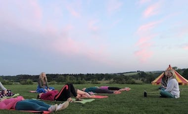 Mindfulness on the lawn with Jessie Hope
